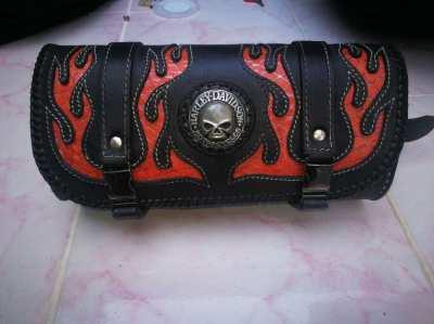 Harley Davidson , Front Roll bag, genuine leather,echt Leder