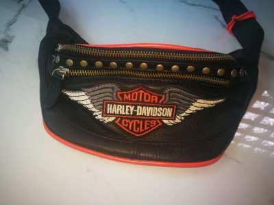 Harley Davidson , waist bag, genuine leather,echt Leder, Huefttasche.