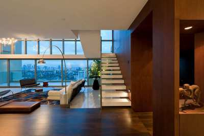 The Lakes Condo professional architect designed Duplex Penthouse