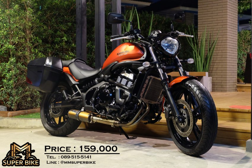 Kawasaki Vulcan S 650 2016 with side panniers & only 5,2xx km!