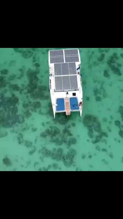 Solar Motor Electric Catamaran