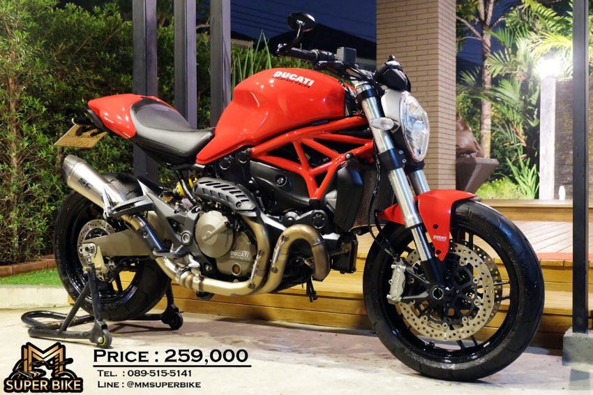 Ducati Monster 821 2016 with SC project exhaust & only 12,2xx kms!