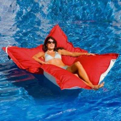 Hotel quality floating beanbags