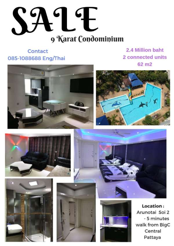 2 condo = 2 million 9 Karat Fully Furnished