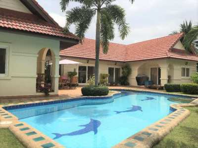 Spanish Casa style bungalow with large pool at Nirvana Pool Villa