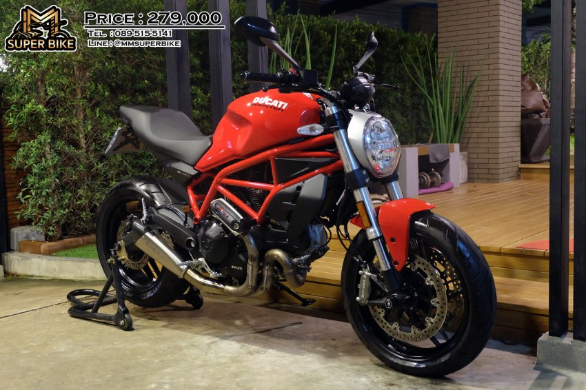 Ducati Monster 797 2018 HP Corse exhaust only 475 km!