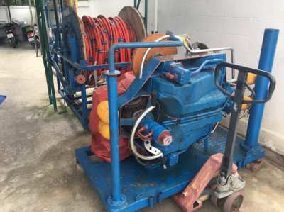 Brush kart for hull cleaning with all brushes and spares parts