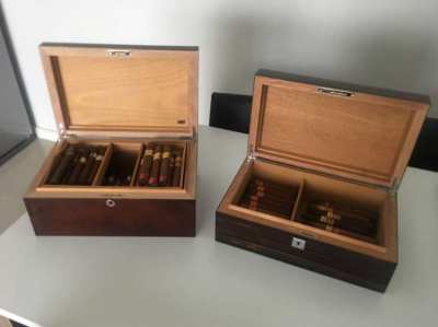 SIGLO CIGAR HUMIDORS EXCELLENT CONDITION