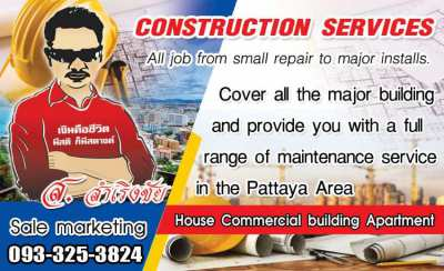 CONSTRUCTION SERVICES IN PATTAYA