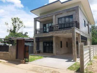 2 storey house for sale Nam Phrae, Hang Dong, Chiangmai