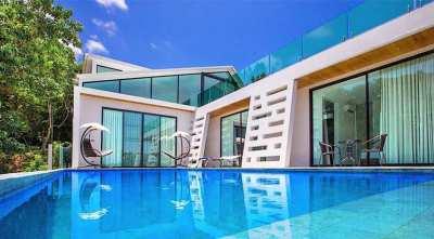 For Sale 3-4 bedrooms pool villa sea view Lamai Koh Samui