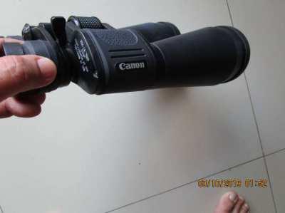 Canon binoculars 20 x 18  ( really big ).