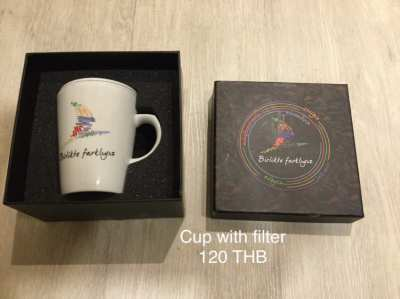 Cup with porcelain filter (price reduced)