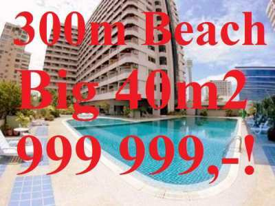 BESTDEAL! Big 40m2 Studio Pratamnak only 300m from Beach Khiang Talay