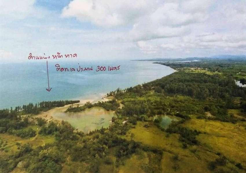 490+ Rai Pristine Beachfront Land in Bang Sak, Phang Nga - 2.5m/rai
