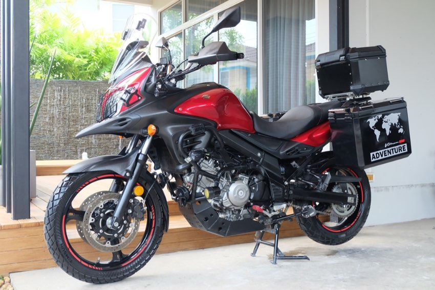 [ For Sale ] Suzuki V-strom 650 2015 with 3 boxes