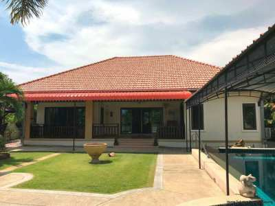 3 bedroom pool villa, only 1 km from the beach
