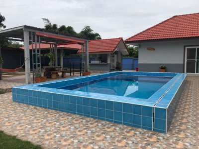 Home for sale in Khon Kaen with Private swimming pool