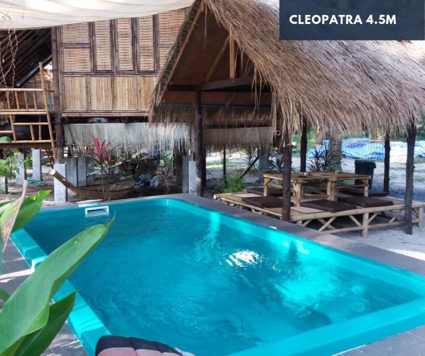 4.5m Fiberglass Pool   Cleopatra - Perfect for Smaller Backyard