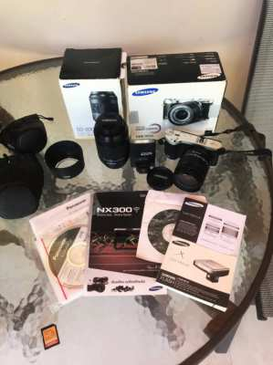 Samsung NX300 complete camera system. As new.
