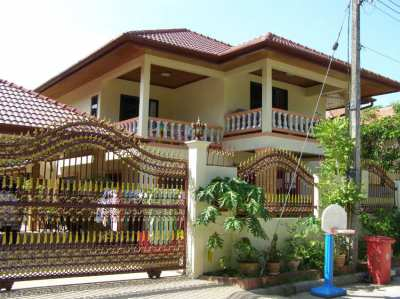 Large detached pool villa with extensive garden