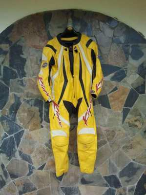 SUPERMOTO RACING SUIT AND GLOVES