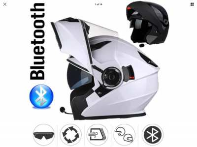 Brand New unused Crash Helmet with Bluetooth