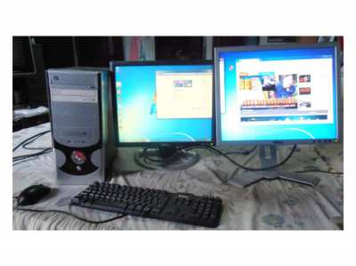 Tower PCs dual screen dual dvd