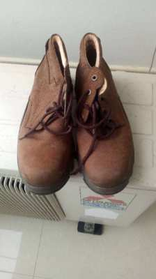 Steel Toe Cap Boots, Secondhand, (not used for many years) 500 Bt.