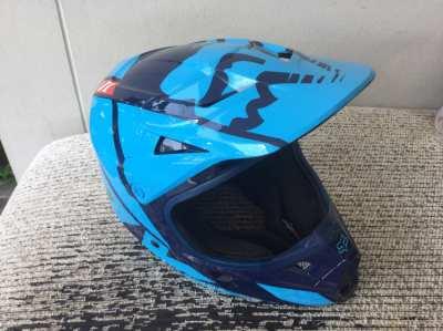 Fox V1 Racing motorcross, enduro Helmet Blue