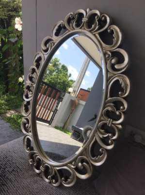 Beautiful English mirror, nice facet glass