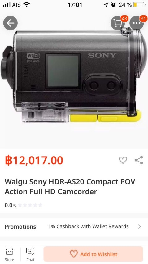 Go pro Sony  HDR-AS20