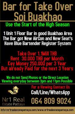 Bar for Take Over Soi Buakhao Pattaya
