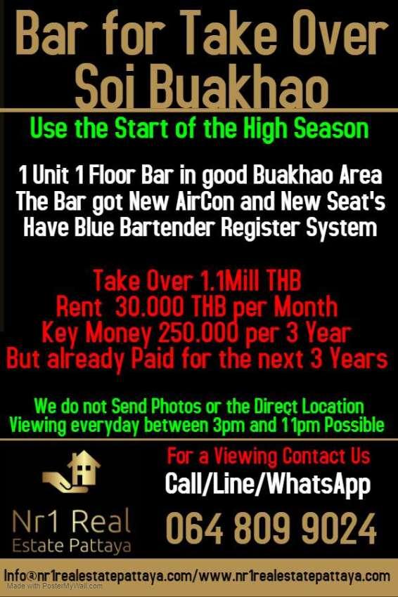 Bar for Take Over Soi Buakhao Pattaya
