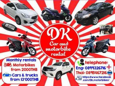 DK Motorbike & Car Rentals (FREE Delivery)