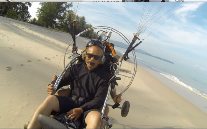 Paramotor Trike with Polini 250 engine and Wing