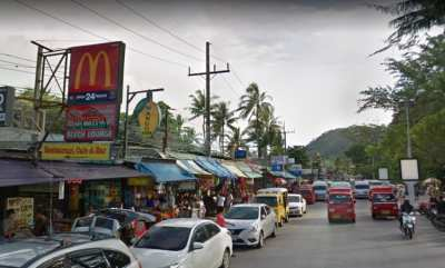 Hotel, Plaza, Shop For sale 1 Rai, Patong beach, Phuket.