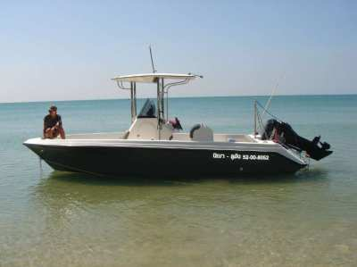 SEAT SB 219, sportfishing boat, 1 Mercury 2 stroke 200HP, build 2007