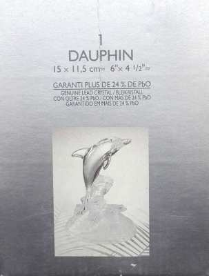 SOLD!!! Vintage Crystal Clear Dolphin