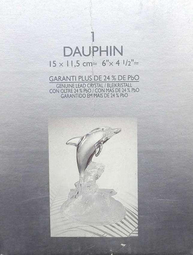 Vintage Crystal Clear Dolphin