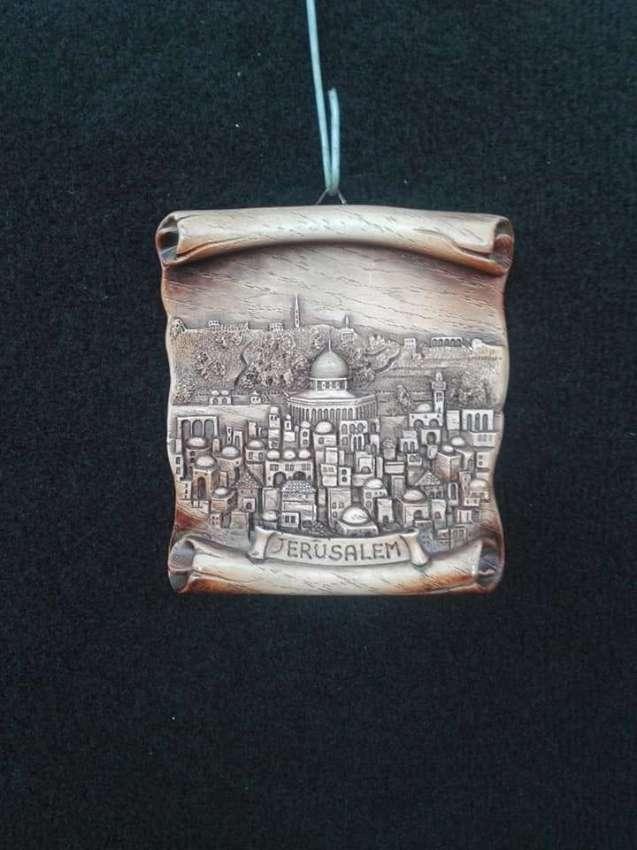 Vintage Israel wall plaque plate