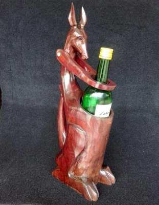 Vintage large carved wooden kangaroo