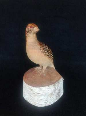 Vintage wood carved bird