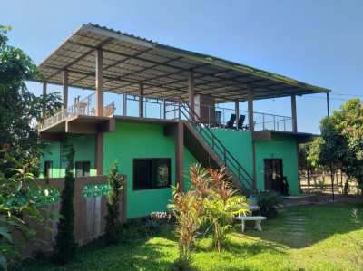 House on hobby farm in phrao district chiang mai อ. พร้าว
