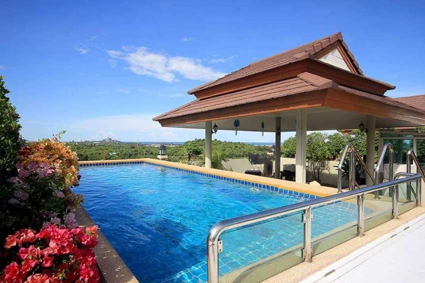 Penthouse condo rooftop pool for sale.