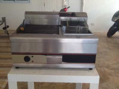 Commercial griddle&deepfat fryer