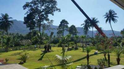 POOL VILLA on huge 3000 sqm land (chanote)