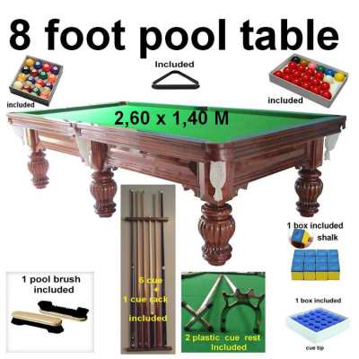 8 Foot - pool table - snooker - Ubon ratchathani