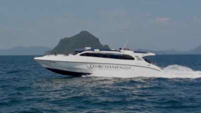 3 engine speed boat 49ft fiberglass