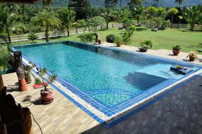 Luxury​ pool​ villa mountain view long term rent, 900 m.to the beach.